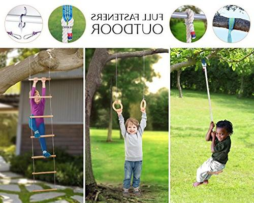 Kids - kids - playset for boys girls Gorilla gym kit swing, ladder, gymnastics rings