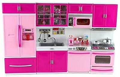 My Full Deluxe Battery Toy Kitchen Playset w/