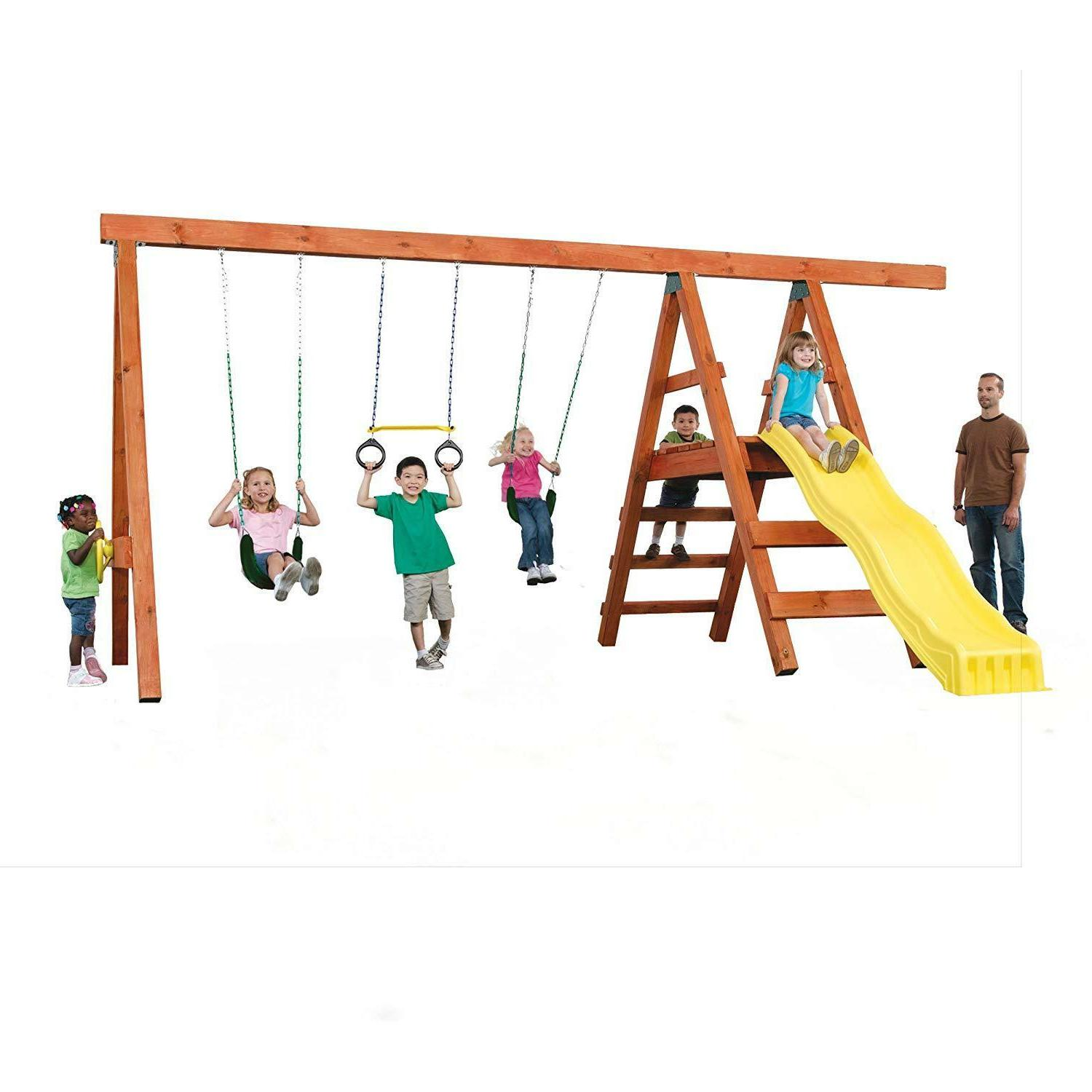 Hardware For Set Kids Fun Backyard Swing Slide Games