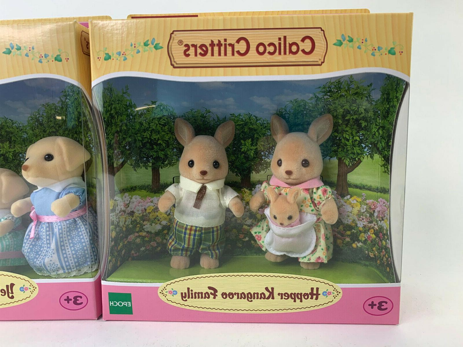 Calico Critters Hopper Family Set, Brand New Boxes