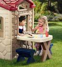 Kids Playhouse Outdoor House Children Pretend Play Toys Eat
