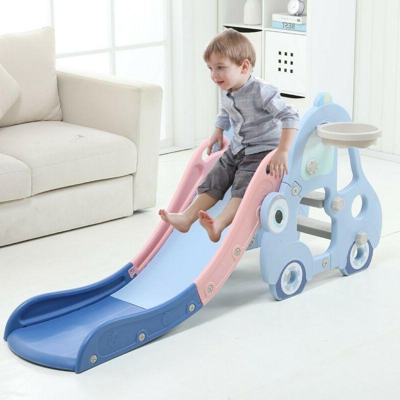 Indoor/Outdoor Play Slide Kids Swing