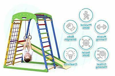 Indoor Playground Toddler Slide – Kids Gym Playset – Tod