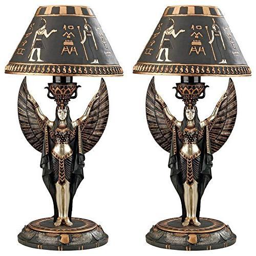isis sculptural table lamp set