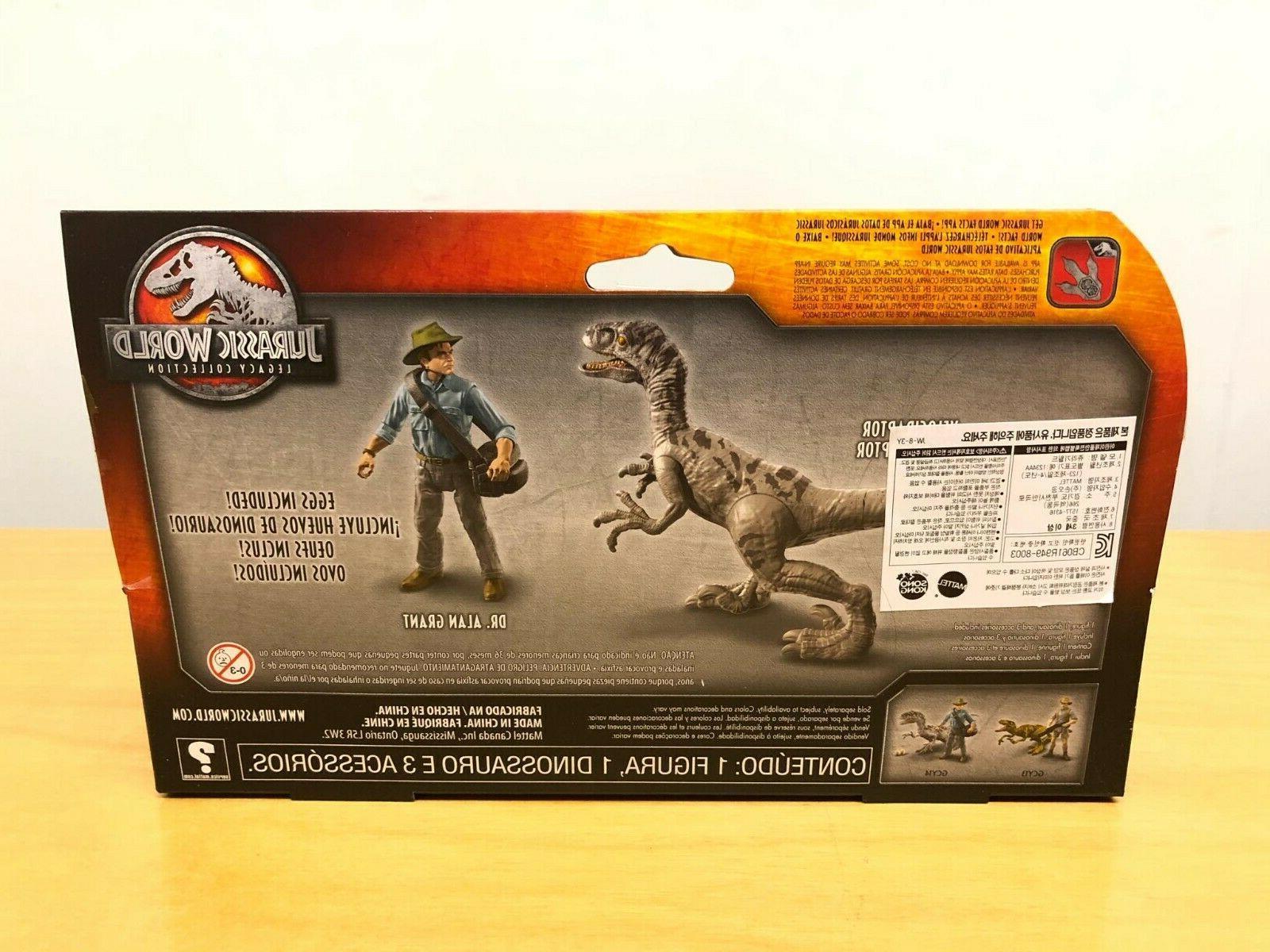 Jurassic Legacy Story Pack Alan & Velociraptor !!