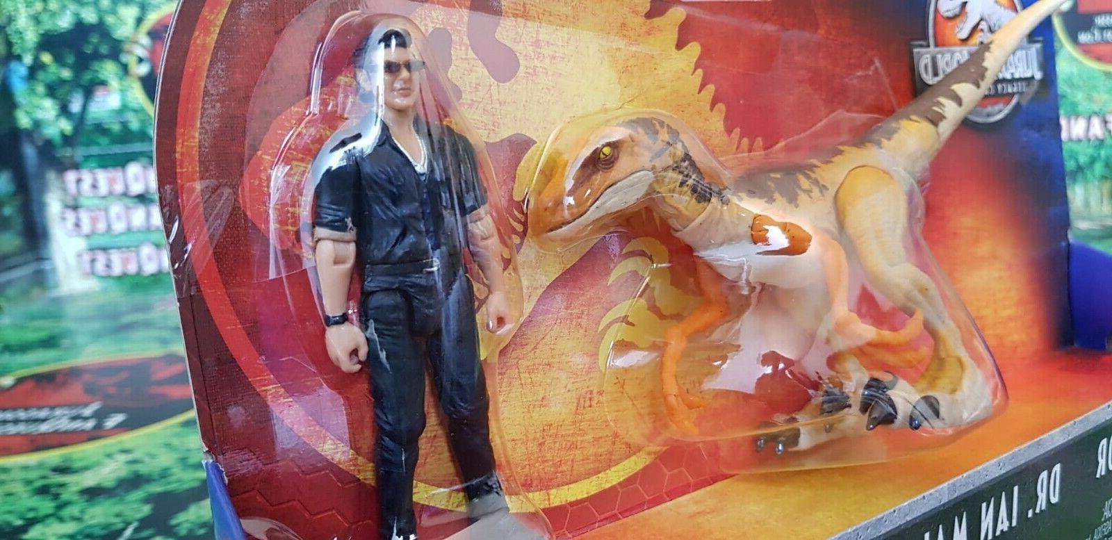 Jurassic Legacy Pack Malcolm & Raptor RARE NEW!