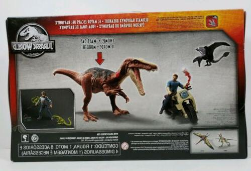 Mattel Jurassic Dinosaur Breakout Damage Action Figure PlaySet