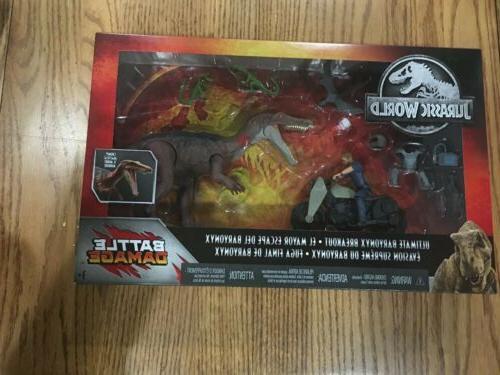 jurassic world park dinosaur breakout battle damage