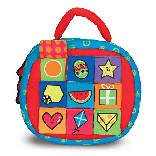 Melissa & K's Kids Take-Along Shape Baby 2-Sided Activity Bag Textured Blocks