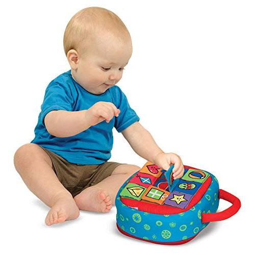 Melissa & Doug Kids Take-Along Shape Baby Activity Bag 9 Textured Shape