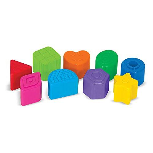 Melissa & Kids Take-Along Shape Baby Activity Bag and 9 Textured Shape Blocks