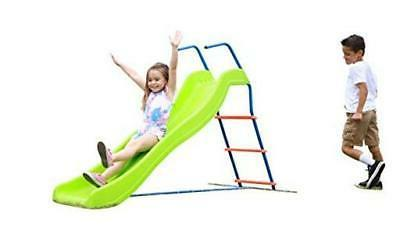 kids 6ft outdoor playground slide freestanding play