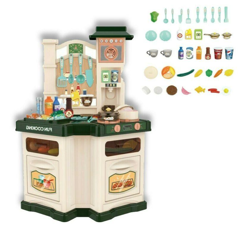 kids kitchen play set pretend baker toy
