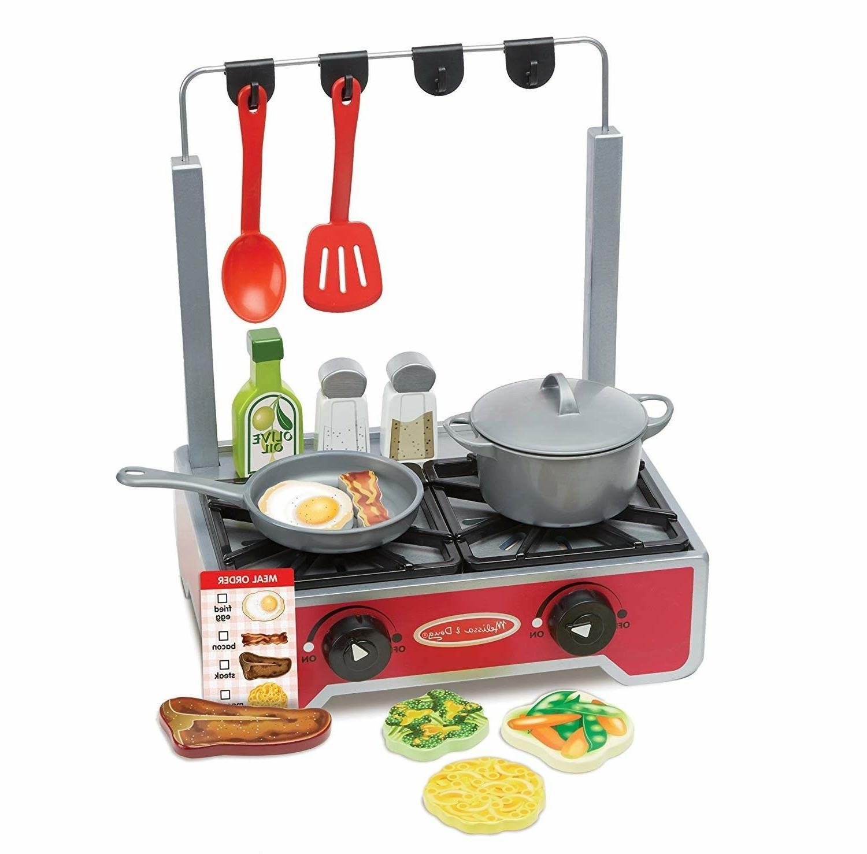 Kids Kitchen Wooden Stove Cook 17 Pretend Gift