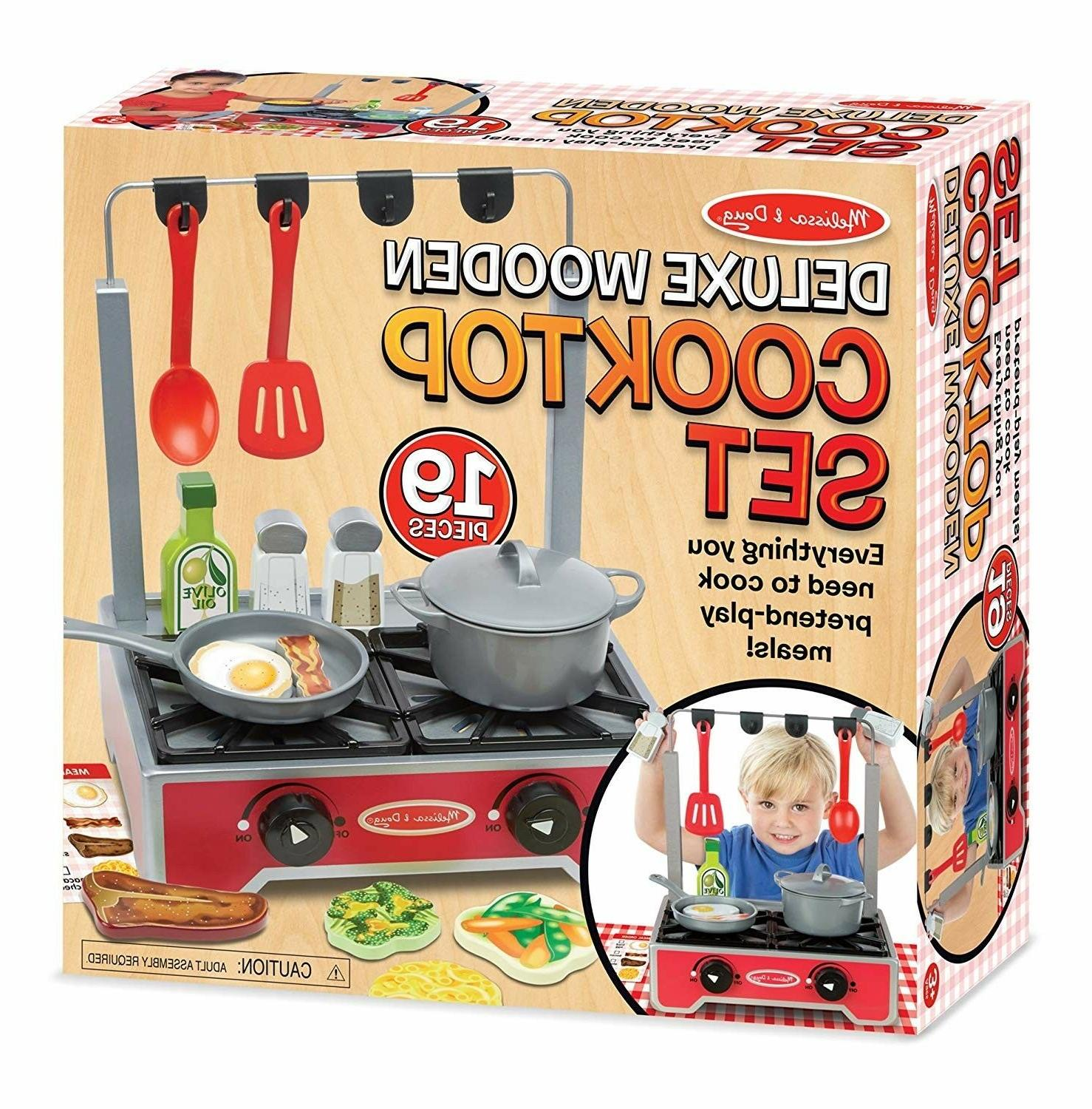 kids kitchen play set wooden stove cook