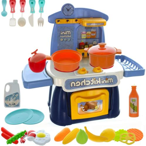 kids mini kitchen playset with realistic sounds