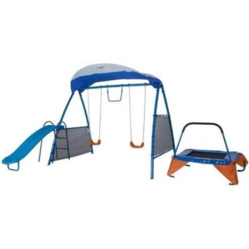 Kids Playground Includes Trampoline, Swings and 250XL