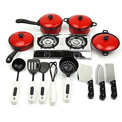 Pretend Play Kitchen Sets For Kids Girls Boys Cooking Food T