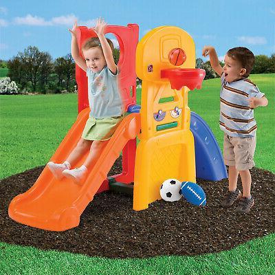Kids Playground Climber Slide Outdoor Backyard Playset