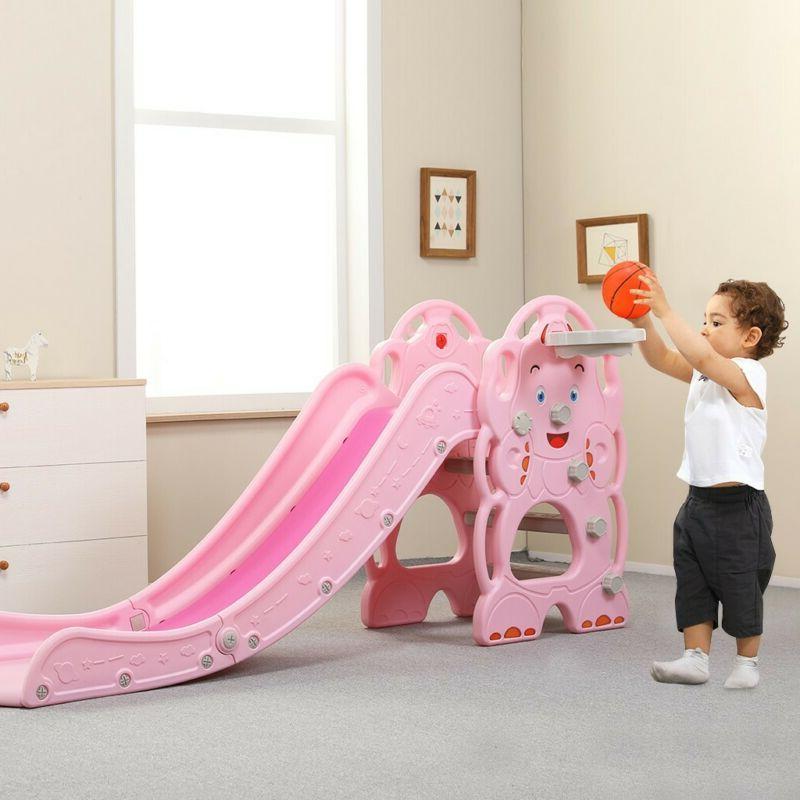 indoor kid toddler baby play slide set
