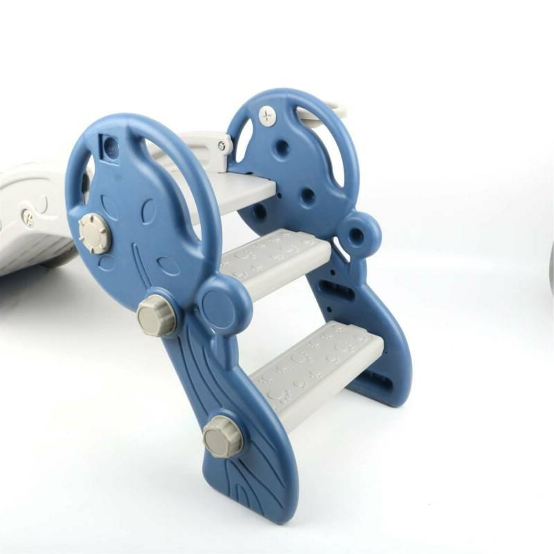Blue Kids Playground Slide Climber Playset Toddler Toy Play