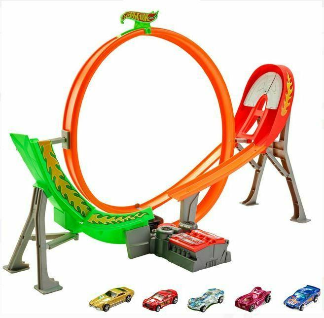 kids power shift raceway loop jump track