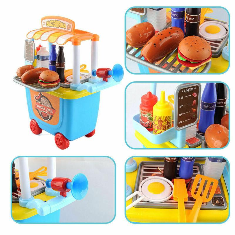 Kids Cooking Role Set BBQ Grill For Gifts33pc