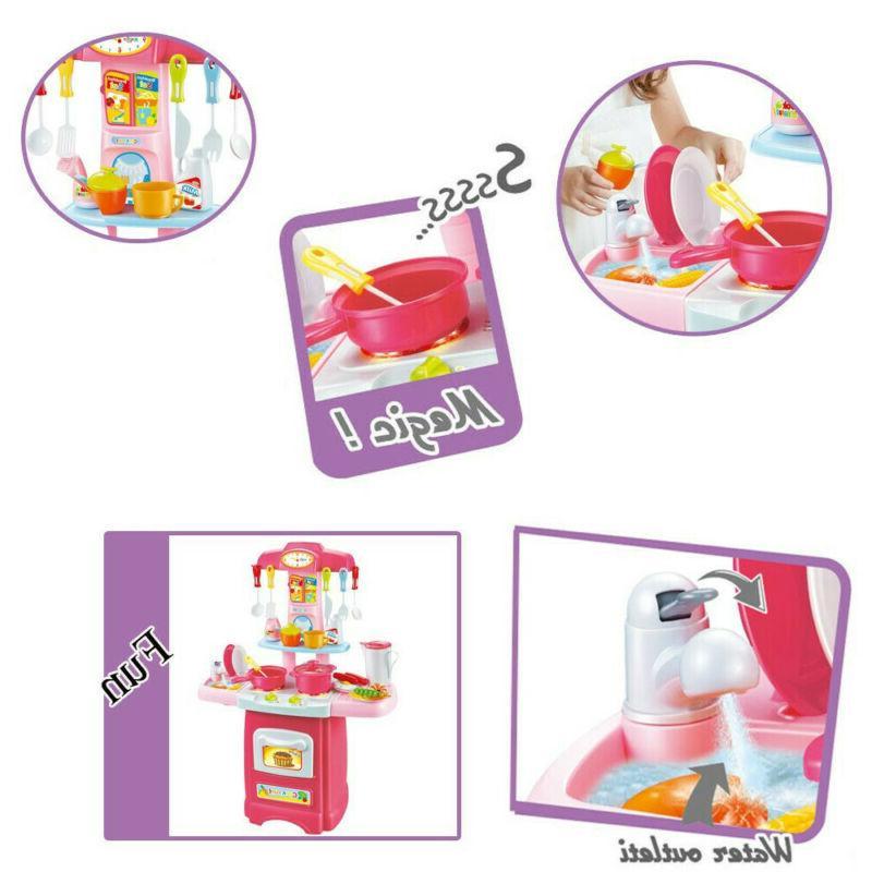 Kitchen For Pretend Toy Set Toddler Kid