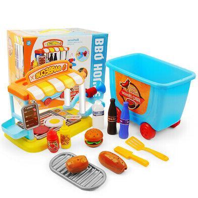 Kids Pretend Kitchen Set Toy Toddler Gift Gifts