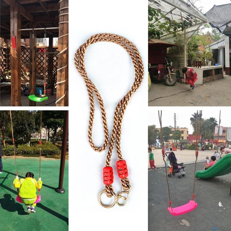 Kids Disc <font><b>Swing</b></font> Rope Children Plastic Hanging <font><b>Play</b></font> Metal <font><b>Set</b></font>