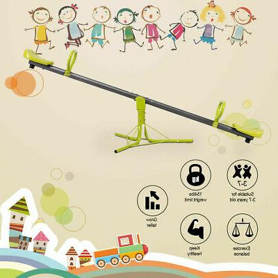 Kids Seesaw Outdoor Set 360 Degree Toy New