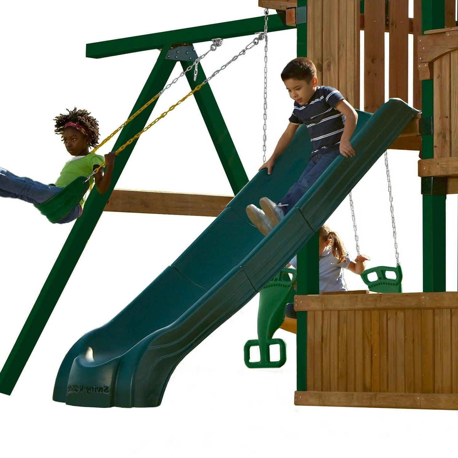 Kids Handrails Backyard Playset Playground