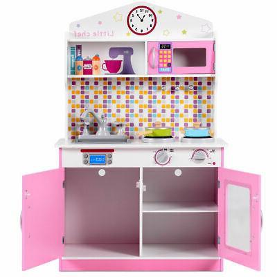 Kids Pretend Playset Kitchen Play Gift