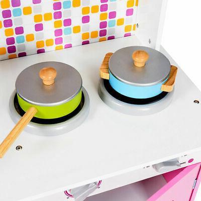 Kids Wooden Playset Kitchen Play