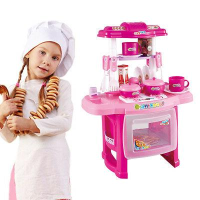 Kitchen Kids Cooking Pre-school Toys Cook Gift