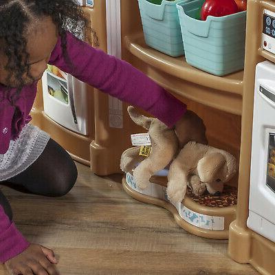 Kitchen Play Pretend Toy Playset Girls Food Accessories