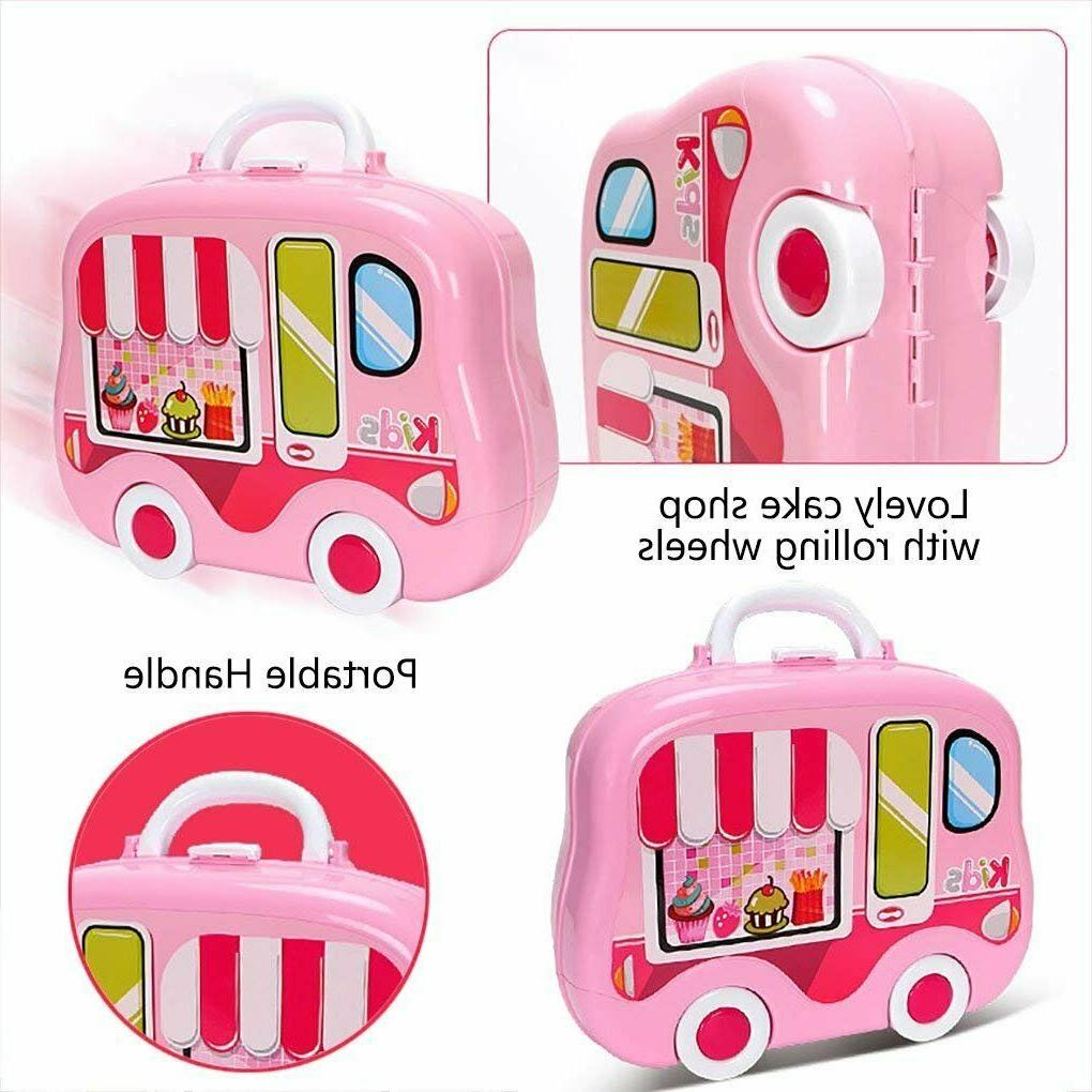 Kitchen set for Girls Kids Pretend Cooking Playset for Play +