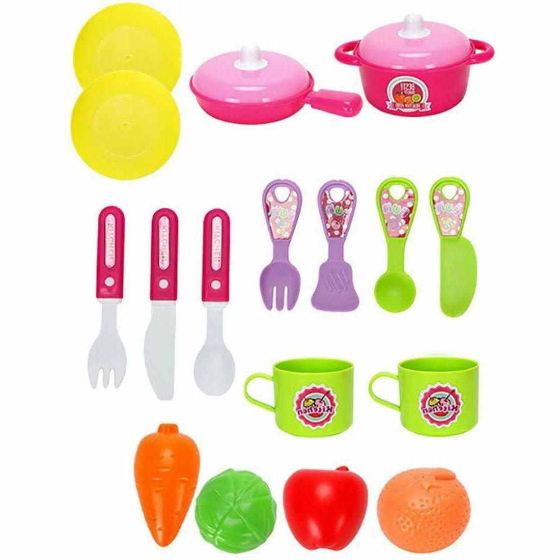 Kitchen Play set for Girls Kids Playset for Chef Play +