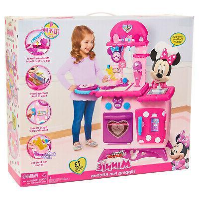 Kitchen Play Set Minnie Girl Cooking Children