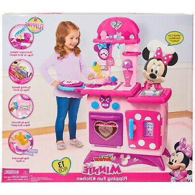 Kitchen Play Set Minnie Mouse Girl Cooking Sound Toys Pink Children