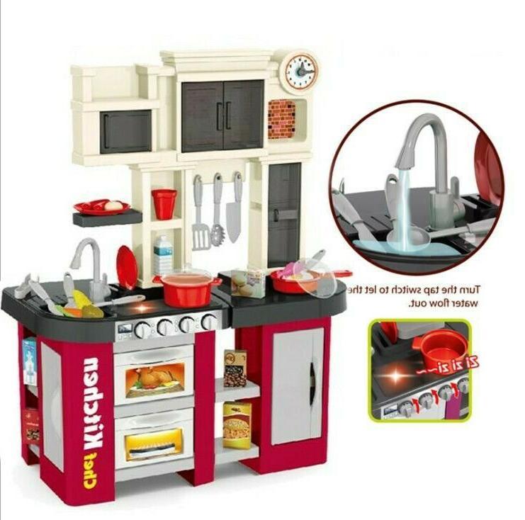 Kitchen Set Pretend Toy Food Toddler Toys Gift