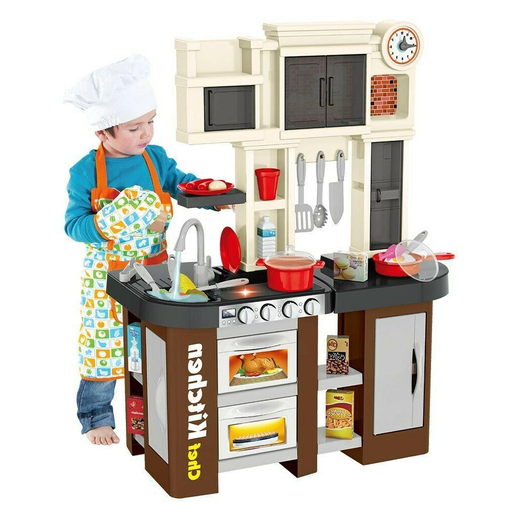 Kitchen Playset For Kids Pretend Play Refrigerator Oven Toy