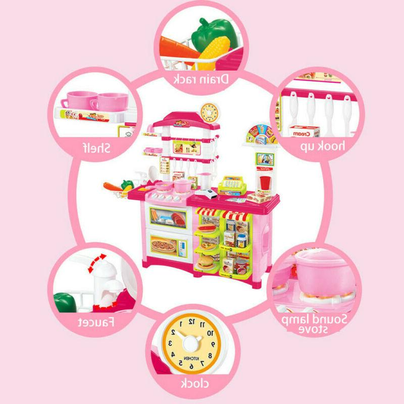 Kitchen Play Baker Kids Toy Cooking Playset Food Present