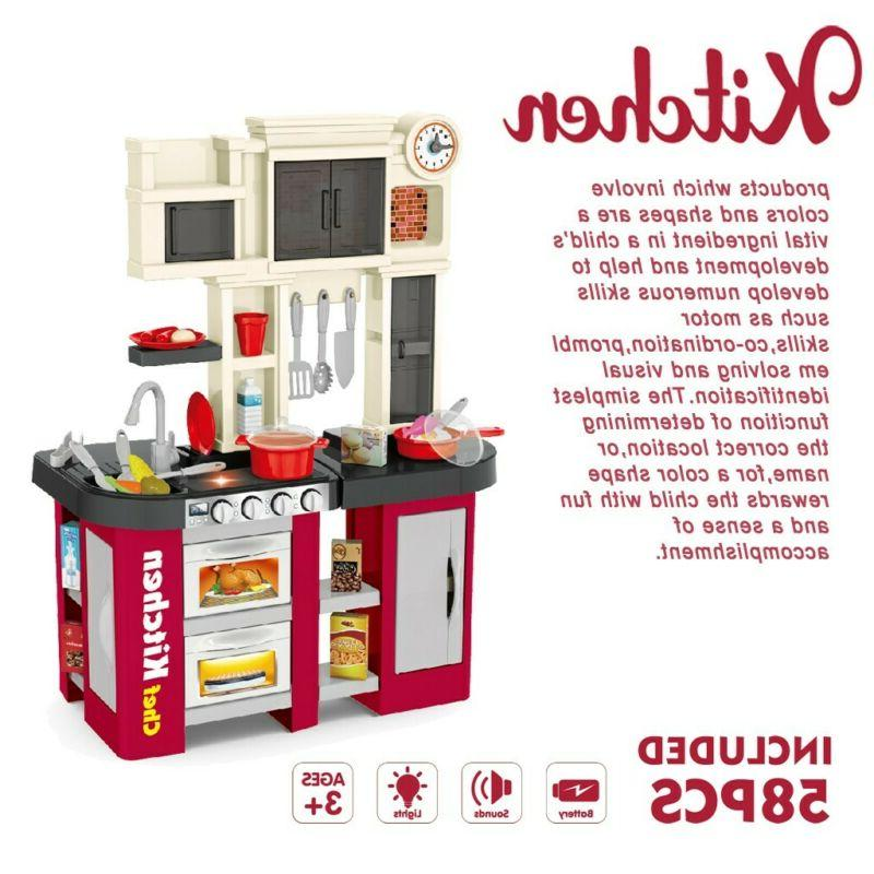 """Childen Kitchen Play Sets With """"Window"""" And Running Wate"""