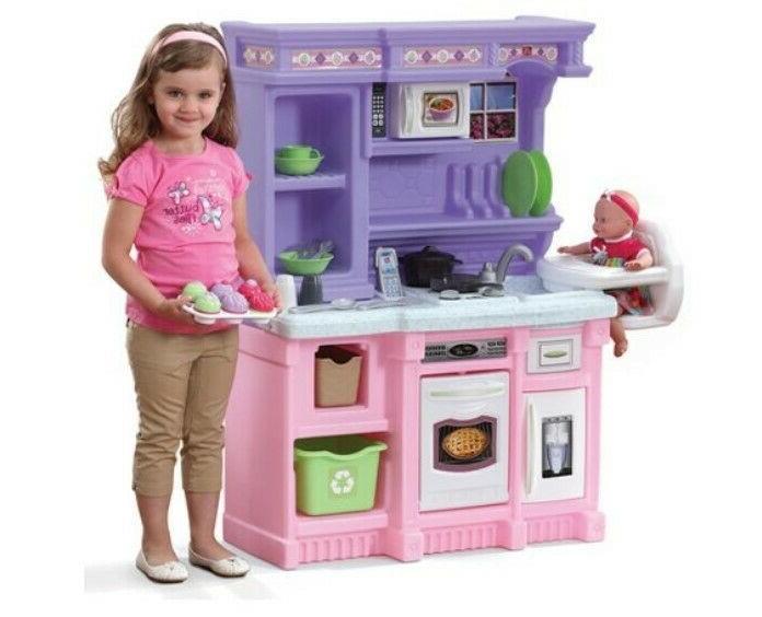 Kitchen Pretend Baker Toy Cooking Playset Food Present