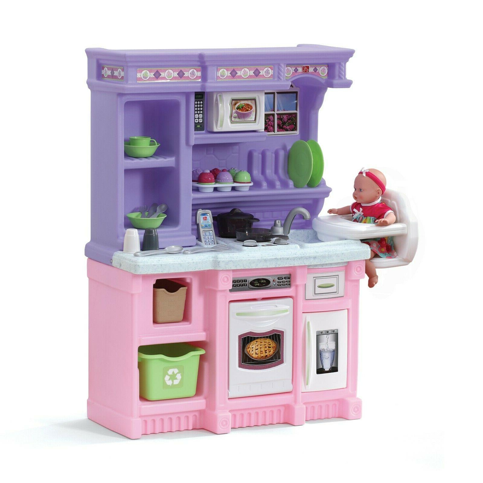 Step2 Little Bakers Kids Play Kitchen with 30 Piece Accessor