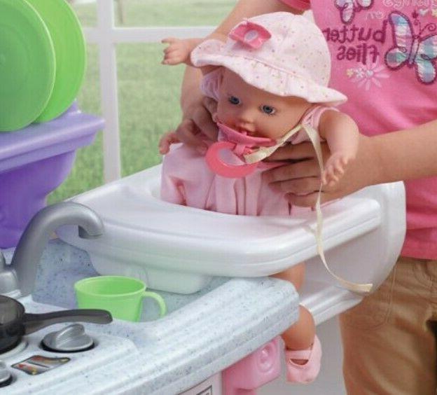 Kitchen Play Pretend Baker Kids Toy Cooking Playset Girls Gift Present