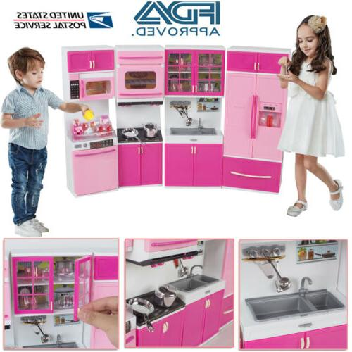kitchen playset for girls pretend play refrigerator