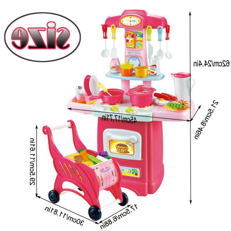 Kitchen Playset For Girls Pretend Play Toy Set & Sound Toddler