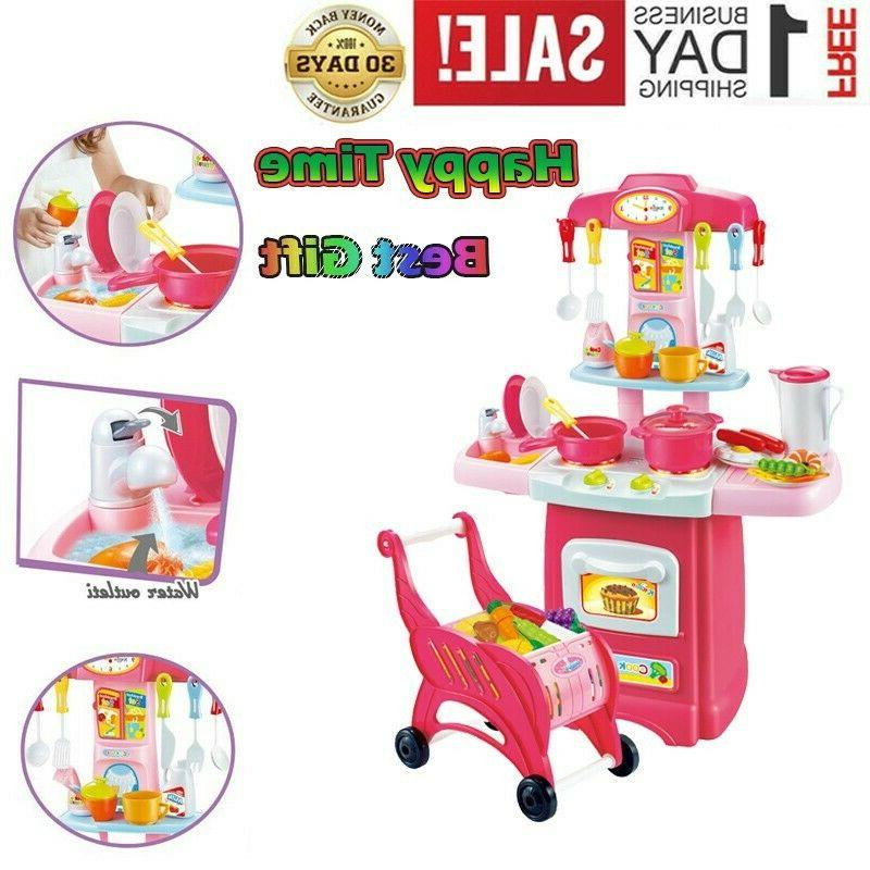 kitchen playset for girls pretend play toy